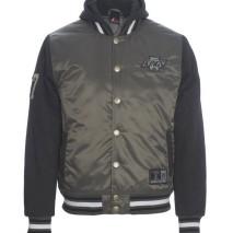 Majestic Besson Hooded Mix Fabric Jacket