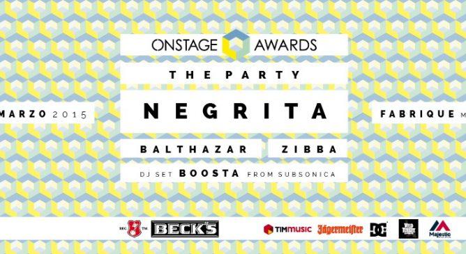 Ricevi l'invito per l'Onstage Awards Party