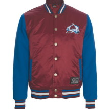 Majestic Creech Mix Fabric Varsity Jacket