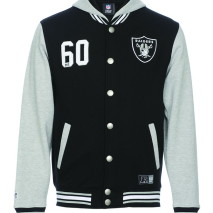 Majestic Lundy Hooded Fleece Letterman Jacket