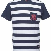 Majestic Unspar Stripe Pocket Tee – New York Yankees