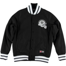 Majestic Armel Full Melton Letterman Jacket – Oakland Raiders