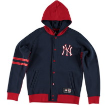Majestic Artic Hooded Fleece Letterman Jacket – New York Yankees