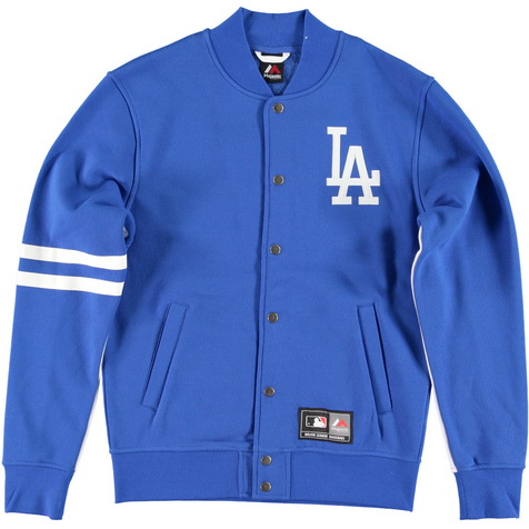 Majestic_Emodin Fleece Letterman Jacket - Los Angeles Dodgers_MLD2360BC_euro75
