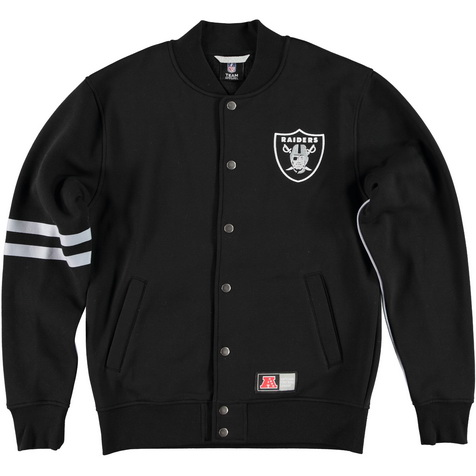 Majestic_Emodin Fleece Letterman Jacket - Oakland Raiders_MOR2360DB_euro75