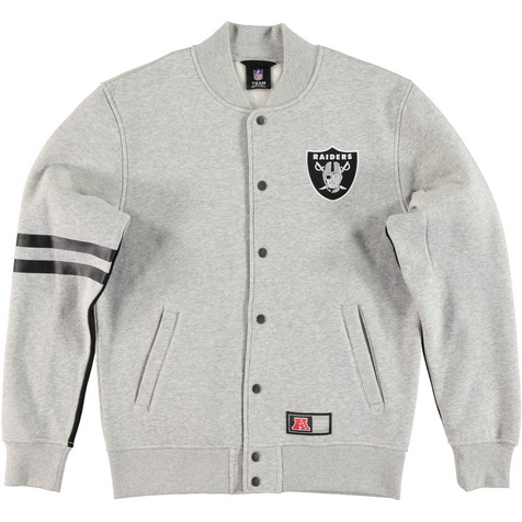 Majestic_Emodin Fleece Letterman Jacket - Oakland Raiders_MOR2360E2_euro75