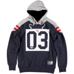 Majestic Pringer Panelled Col Block Hoody – New York Yankees
