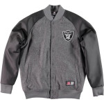 Majestic Pudic Pu/Wool Letterman Jacket – Oakland Raiders
