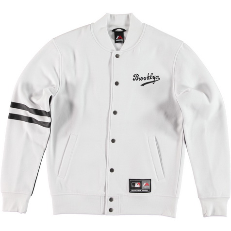 Majestic_emodin fleece letterman jacket bd_white_MBK2360WB_euro75