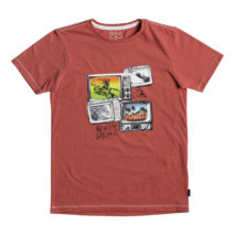 Quiksilver Boy's T-shirt SS Heather Tee Super Tv Youth