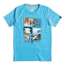 Quiksilver Boy's T-shirt SS Heather Tee Youth Paradise Forg