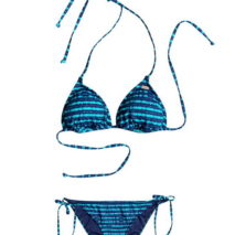 Roxy Bikini Pop Swim Tiki Tri/Tie Side Scoot