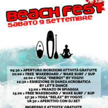 Beach Fest –  Sabato 9 settembre