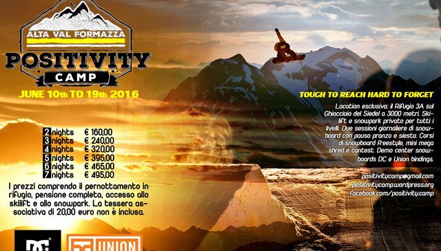 DC e Union supportano il Positivity Camp 2016