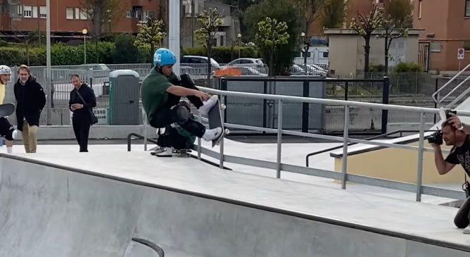 Danny Galli e Andrea Casasanta allo skatepark di Ostia