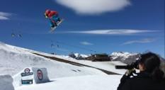 Il fine stagione di Marcello Grassis allo Snowpark Mottolino