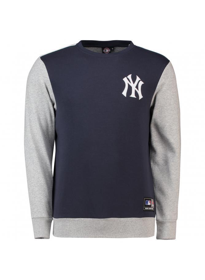 Majestic Tobias Small Logo Crew Sweat – New York Yankees