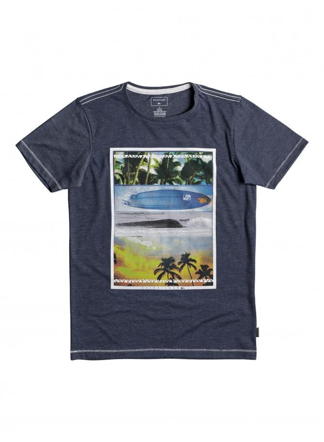 Quiksilver Boy's T-shirt SS Heather Tee Place To Be Youth
