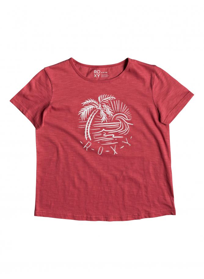ROXY T-shirt Red Sunset Corpo