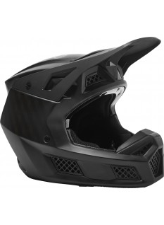 FOX RS Black Carbon Helmet, Ece