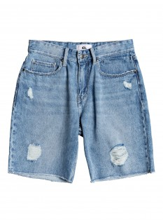 Quiksilver Wo's Shorts jeans Up Size Short Blue Rip